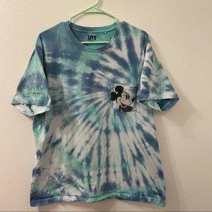 Uniqlo Disney Andy Warhol tie dye t shirt blue